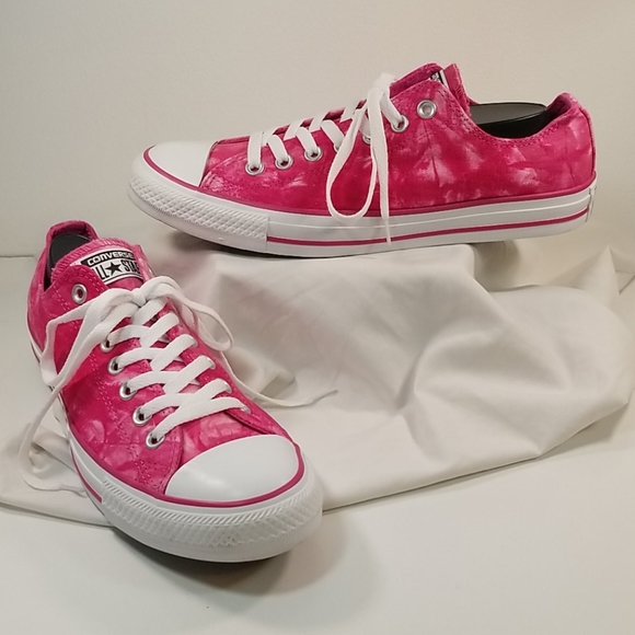 CONVERSE All⭐Star low top pink tie dye 8½-M/10½-W